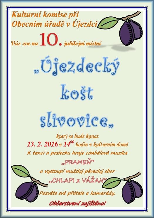 Újezdecký košt slivovice 13.2.2016 - Újezdec