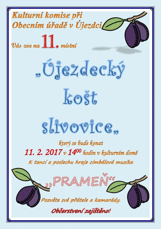 Újezdecký košt slivovice 11.2.2017 - Újezdec